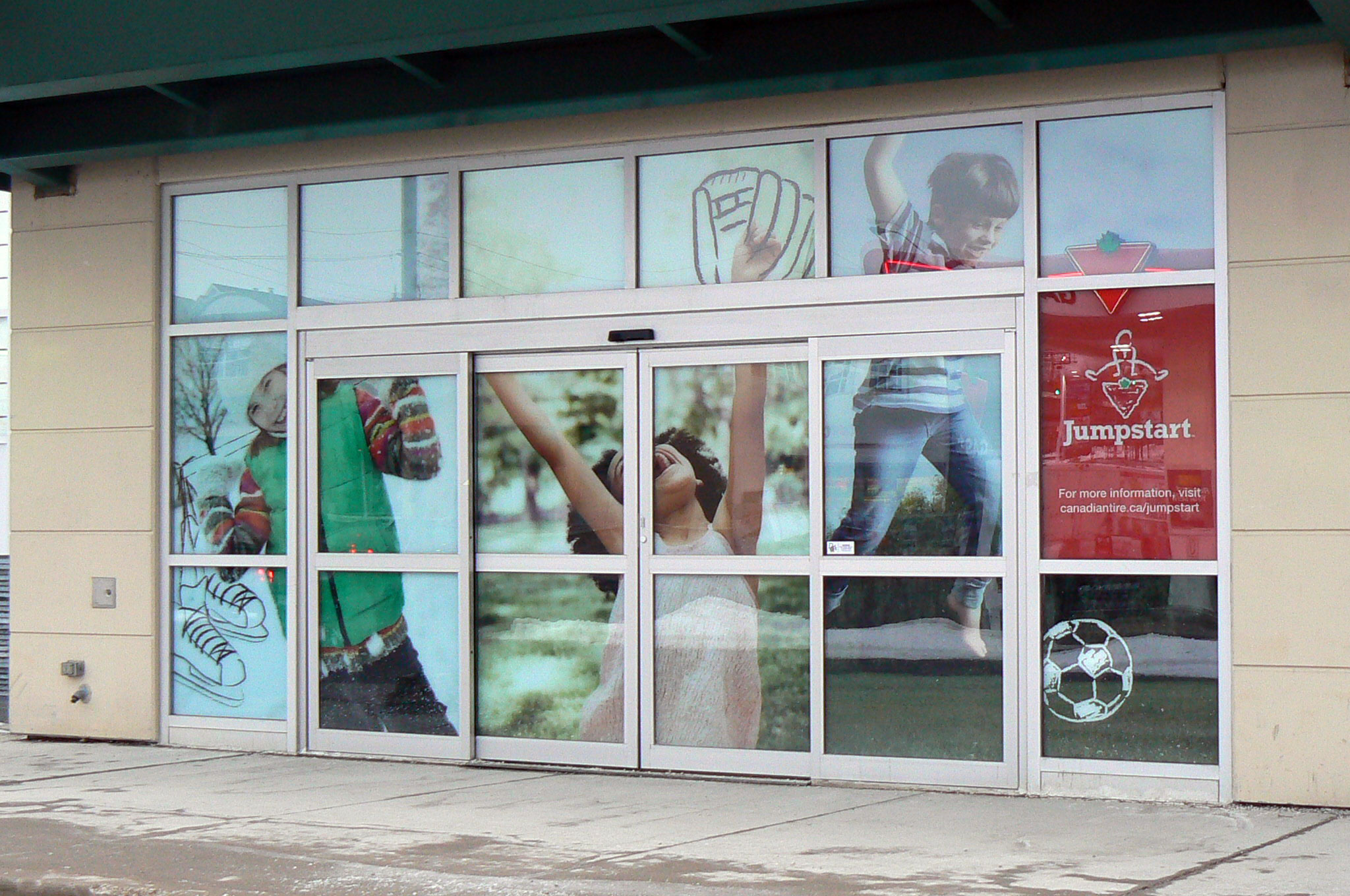 Execution for Large window vinyl display